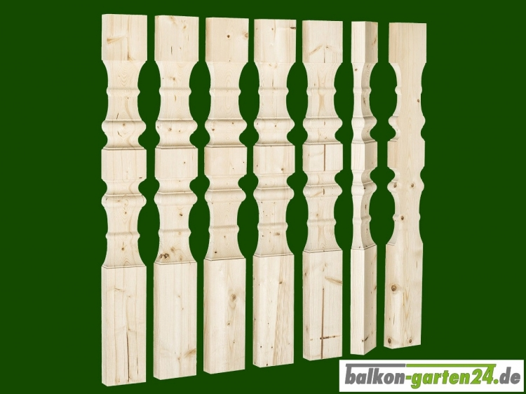 Balkonbretter Salzburg L nord. Fichte für Balkongeländer aus Holz