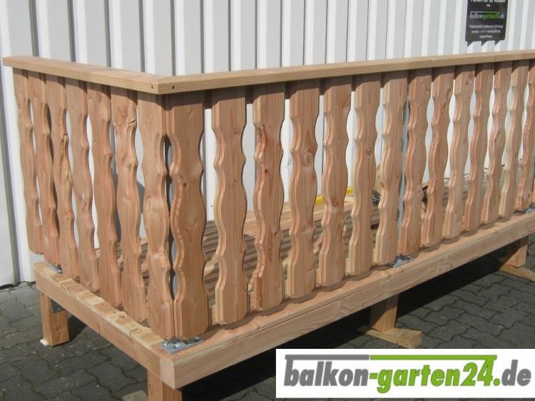 Balkongeländer Holz Douglasie Lärche Lindau-1
