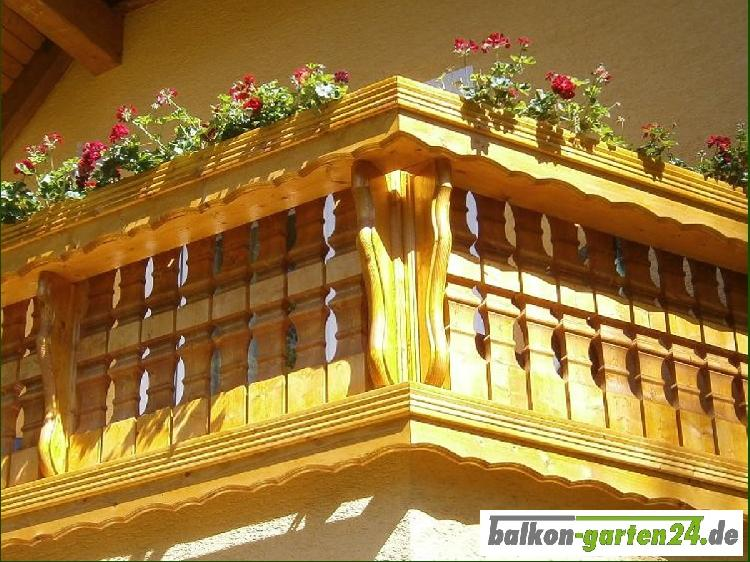 Balkongeländer Holz nord. Fichte Salzburg 4