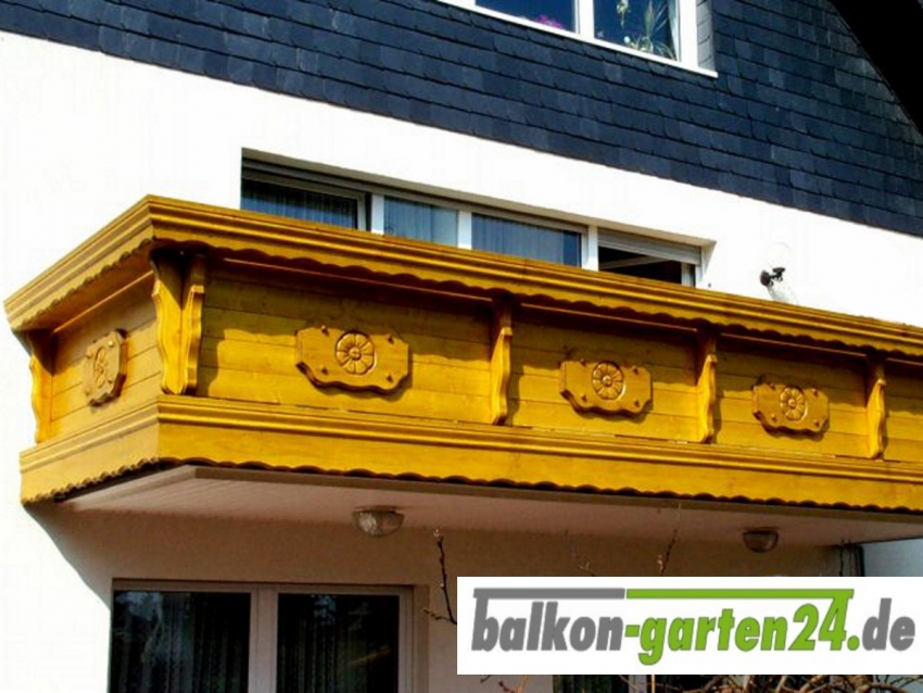Holzbalkon Kempten Fichte Laerche Balkongelaender Holz Balkonbrett Balkonbretter