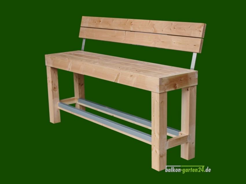 Garnitur Sitzmöbel Happyhour Bank mit Lehne Douglasie Lärche Balkonbretter Holzbalkon