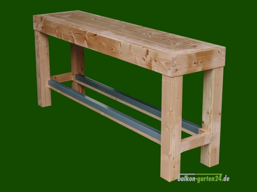 Garnitur Sitzmöbel Happyhour Bank ohne Lehne Douglasie Lärche Balkonbretter Holzbalkon