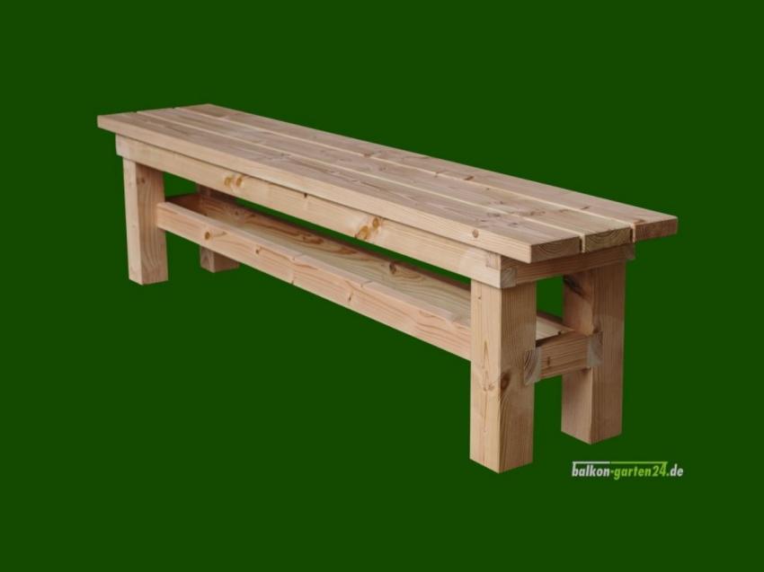 Garnitur Sitzmöbel Happyfamily Bank ohne Lehne Douglasie Lärche Gartenmöbel Balkonbretter Holzbalkon
