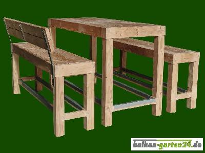 Garnitur Sitzmöbel Happyhour VarianteB Douglasie Lärche Balkonbretter Holzbalkon