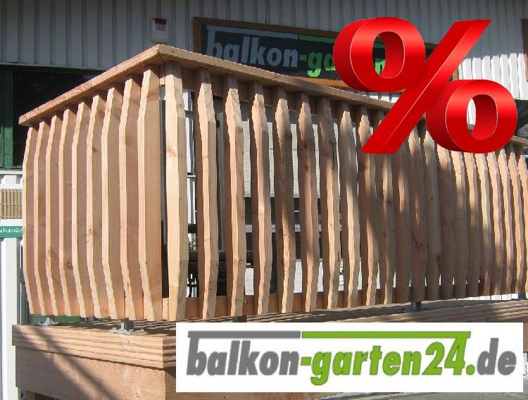Holzbalkon Balkongelaender Holz Denver BSorte Laerche Douglasie Balkonbretter