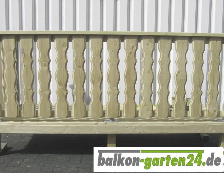 Holzbalkon Balkongelaender Holz Fichte Lindau  F Balkonbrett