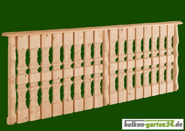 Balkongeländer Holz nord. Fichte Salzburg K