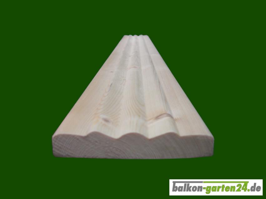 Londonleiste Londonblende Fichte Laerche Zierblende Profilblende Balkonbretter Balkonbrett Holzbalkon Balkongelaender Holz