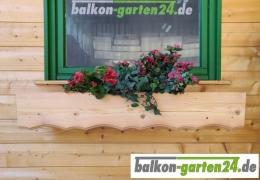 Profilblende Zierblende Douglasie Lärche Balkonbretter Holzbalkon Balkonbrett Balkongeländer Blumenkasten Holz Sockelblende BSorte3
