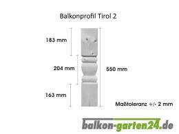 Balkonbretter Holz Fichte Tirol K