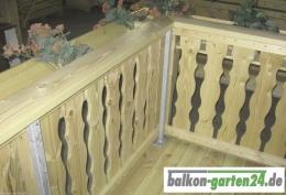 Balkonbretter Holz Laerche Fichte Balkongeländer Holzbalkon Lindau F Balkonbrett3