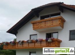 Balkonbretter Holz Laerche Fichte Balkongeländer Holzbalkon Lindau FL Balkonbrett