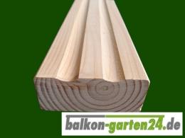 Balkonbrett Konsole geriffelt Douglasie Laerche Holz Holzbalkon Balkongelaender