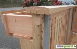 Konsole Fichte Lärche Konsolenklotz Blumenkasten Balkonbretter Balkonbrett Holzbalkon Balkongeländer4