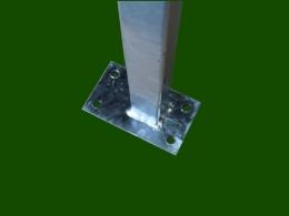 Metallstütze Balkonsteher Balkonstütze Platte unten