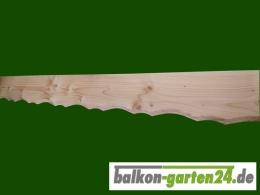 Profilblende Zierblende Douglasie Lärche Balkonbretter Holzbalkon Balkonbrett Balkongeländer Blumenkasten Holz Sockelblende