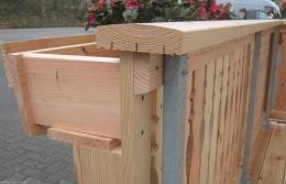 Querriegel Querleiste Douglasie Lärche Balkonbretter Balkonbrett Holzbalkon Balkongeländer Holz