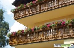 Balkonbretter Ornament Fichte Lärche Balkonbrett Holzbalkon Balkongeländer holz0