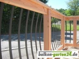 Geländerstab Aluminium für Balkongeländer Holz
