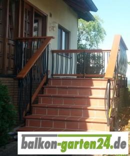Geländerstab Aluminium für Holzbalkon
