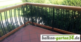 Geländerstab Aluminium für Holzbalkone