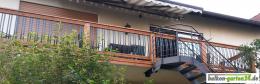 Alustab Aluminiumstab Balkongelaender Holz Holzbalkon Kunde