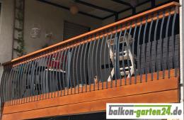 Alustab Aluminiumstab Gelaenderstab Balkongelaender Holzbalkon Kunde