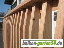 Balkonbretter Denver Douglasie Lärche für Holzbalkon