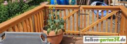 Balkonstab Denver Holzbalkon Balkongelaender Douglasie Laerche Kunde40
