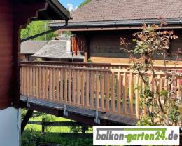 Balkongelaender Holz Holzbalkon Laerche Douglasie Gelaenderstab Denver01
