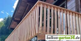 Balkongelaender Holz Holzbalkon Laerche Douglasie Gelaenderstab Denver02