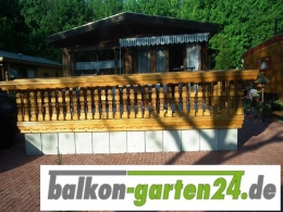 Balkongeländer Holz nord. Fichte Salzburg 3