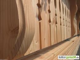 Balkongeländer Holz Douglasie Lärche Berchtesgaden D
